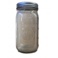 PRE ORDER Due 10th August  -  Aussie Mason 86mm Mouth (WIDE) 1000ml QUART Jars & Lids  x 6