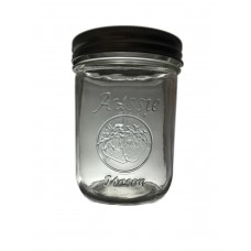 Aussie Mason LOGO 86mm (WIDE) Mouth 500ml Jars & Lids x 6