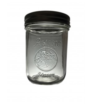 SOLD OUT  - Aussie Mason LOGO 86mm (WIDE) Mouth 500ml Jars & Lids x 12