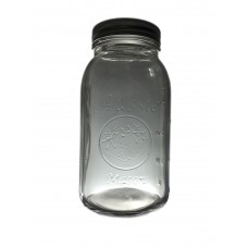 Aussie Mason 68mm Mouth (Regular) 950ml QUART Jars & Lids  x 6 - Shipping Included