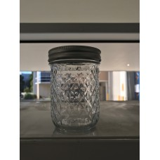 Aussie Mason Quilted 86mm (WIDE) Mouth 500ml Jars & Lids x 12