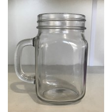 SOLD OUT -  Plain Beer Mugs 415ml with silver daisy lids regular mouth x 6
