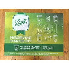 Ball Preserving Starter Kit Canning 9 Piece Kit with Jars & Step by Step Instructions