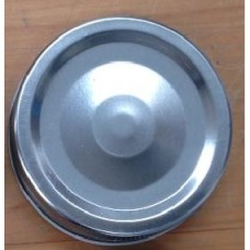 1 piece Regular Mouth Metal Lid Silver x 12