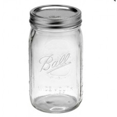 Ball Wide Mouth Quart Jars & Lids x 6 - shipping included