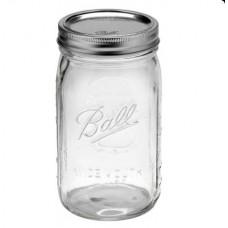 Ball Wide Mouth Quart Jars & Lids x 6