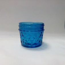 Aussie Mason Quilted BLUE 120ml Jars & Lids  BULK DEAL 10 cases (120  jars) - FREE SHIPPING no PO boxes