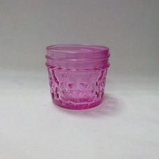 Aussie Mason Quilted PINK 120ml Jars & Lids x 12  - IN STOCK