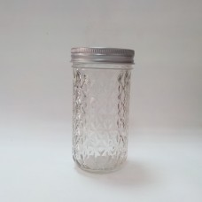 Aussie Mason Quilted 340ml Jars & Lids x 12  -IN STOCK!!