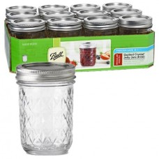 SOLD OUT - Ball Quilted 8oz Jars & Lids x 12
