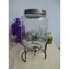 Mason Jar Drink Dispenser 8L - With Free Metal Stand