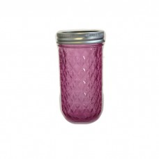 Aussie Mason Quilted Pink 340ml Jars & Lids BULK DEAL 6 cases (72  jars) - FREE SHIPPING no PO boxes