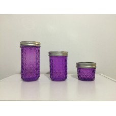 Aussie Mason Quilted Purple 340ml Jars & Lids x 12  - Limited Stock