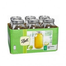 SOLD OUT - Ball Wide Mouth Half Gallon  Jars & Lids x 6