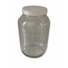 3.8L Plain Mason Jar with White PP lids case of 4 -  SOLD OUT MORE SOON