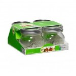 Ball Elite Wide Mouth Pint Jars x 4