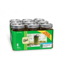 SOLD OUT - Ball Wide Mouth Pint & Half Jars & Lids x 9