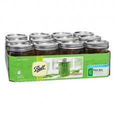 SOLD OUT  - Ball Wide Mouth Pint Jars and Lids x 12