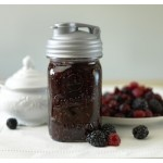 Drinking Cap Fits Regular Mouth Mason Jars x 1 Silver  BPA FREE