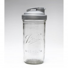 Drinking Cap Fits Wide Mouth Mason Jars x 1 Silver BPA FREE