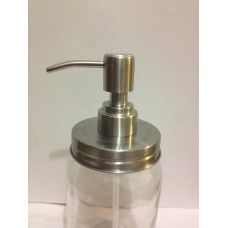 Stainless Steel Soap Dispenser Pump Lid fits Regular mouth Jars x 1